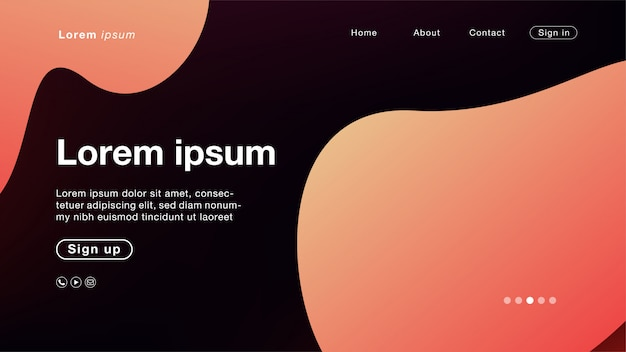Background abstract fizzy peach light curve for homepage