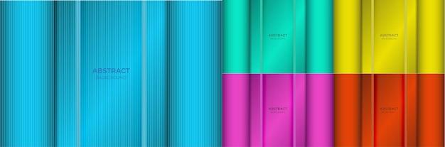 Фон абстрактный минимальный красочный градиент синий, зеленый, желтый, фиолетовый и красный цвет красивый с легкой текстурой линии. векторная иллюстрация