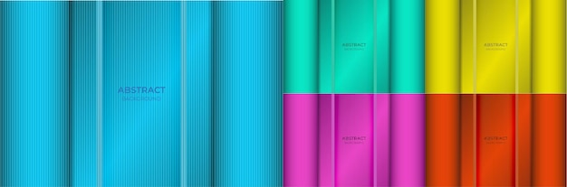 Background abstract minimal colorful gradient blue, green, yellow, purple and red color beautiful with light line texture. vector illustration