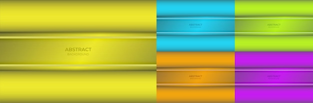 Background abstract minimal colorful gradient yellow, blue, green, orange and purple color beautiful with light line texture. vector illustration
