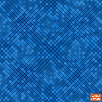 Background abstract mosaic of the grid pixel pattern and squares blue color.