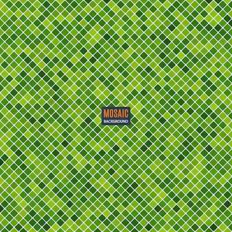 Background abstract mosaic of the grid pixel pattern and squares green color. stock illustration