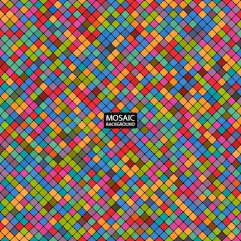Фон абстрактная мозаика из красочных квадратов
