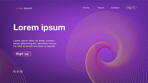 Background abstract purple orange line color for homepage