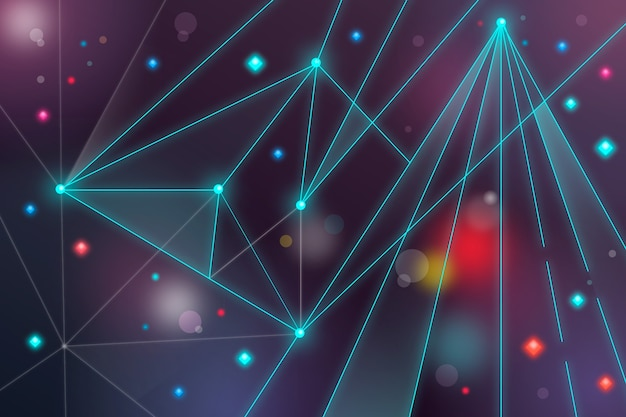 Background abstract realistic technology particle