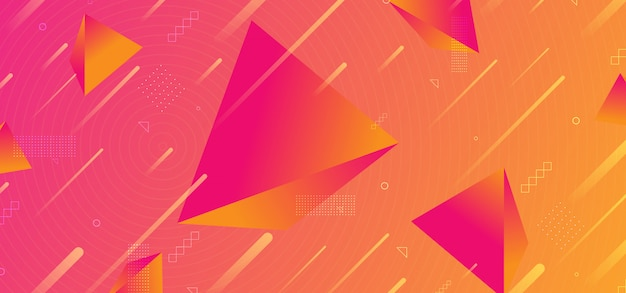 Background abstract trendy 3d pyramid gradient colors