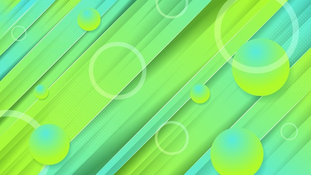 Background abstract yellow green premium vector