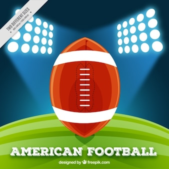 Background of american football stadium with ball