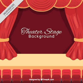 Background of auditorium in flat design