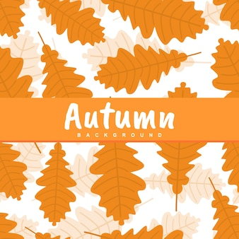Background of autumn fall palm leaves seamless pattern