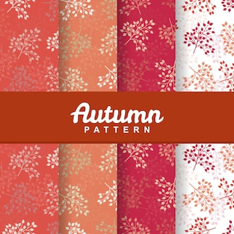 Background of autumn fruit seamless pattern