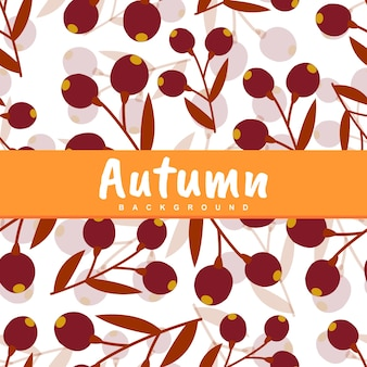 Background of autumn leaf seamless pattern
