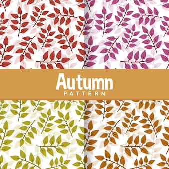Background of autumn leafleaves seamless pattern