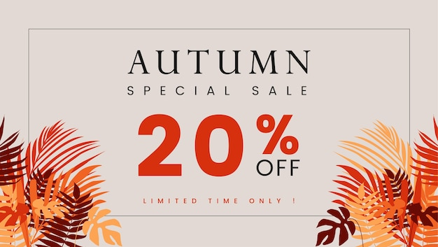 Background autumn special sale cover. premium vector