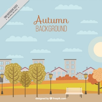 Background of autumnal park
