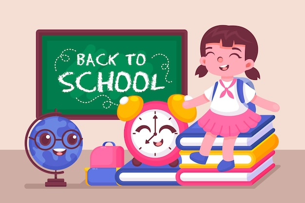 Background for back to school