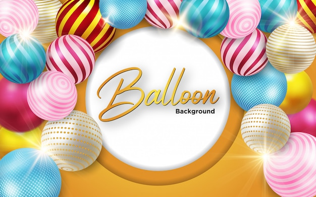 Background ball 3d colorful