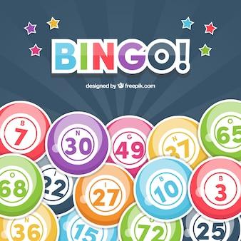 Background of bingo balls in flat design