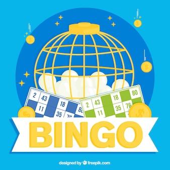 Background of bingo balls