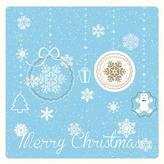 Background, blue, christmas balls