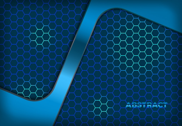 Background blue hexagon gradient illustration