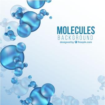 Sfondo delle molecole blu