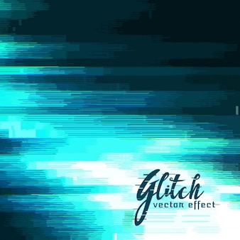 Background in blue tones, glitch effect