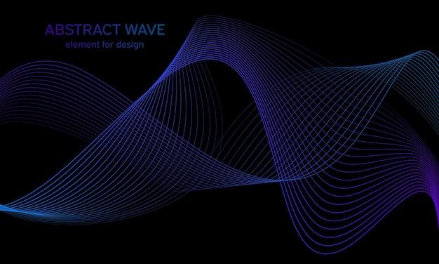 Background blue wave