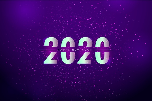 Background blurred new year