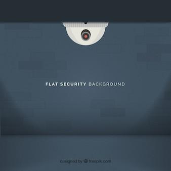 Background of brick wall and surveillance camera