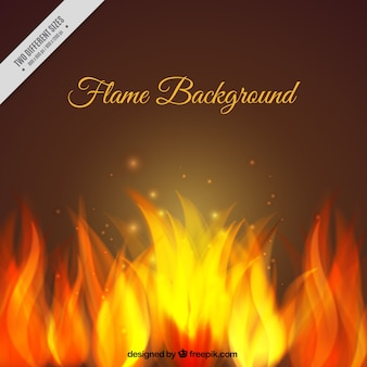 Background of bright flames