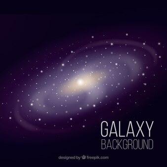 Sfondo della galassia luminosa