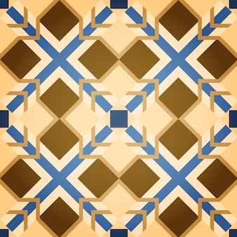 Background of brown mosaic square seamless pattern