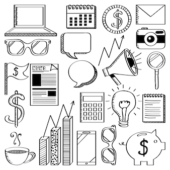 Background of business related icons