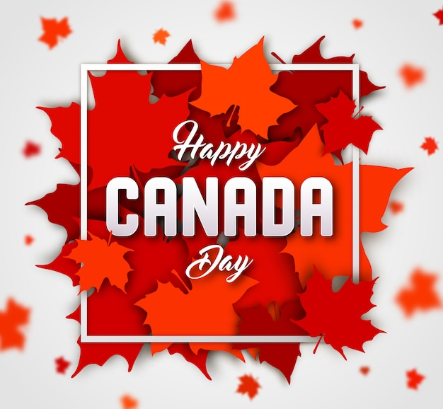 Background of canada day