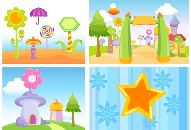Background cartoon candy