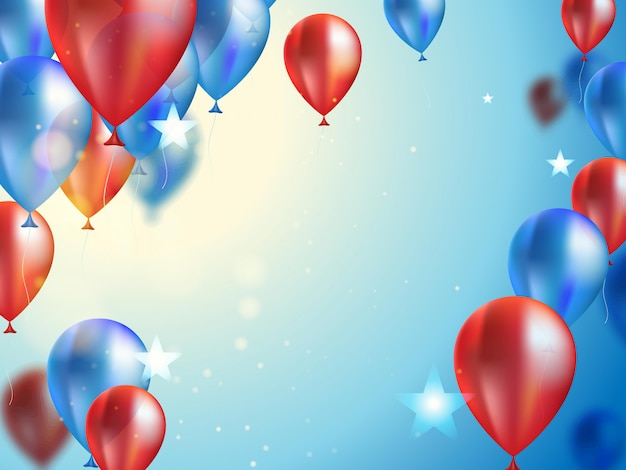 Background for celebration with balloons