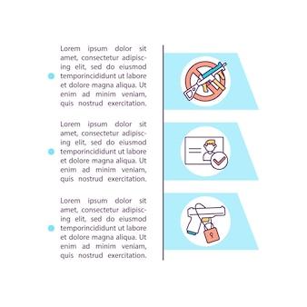 Фон проверьте значок предыдущей концепции с текстом. продажа оружия во время шаблона страницы ppt пандемии. остановите оружие.