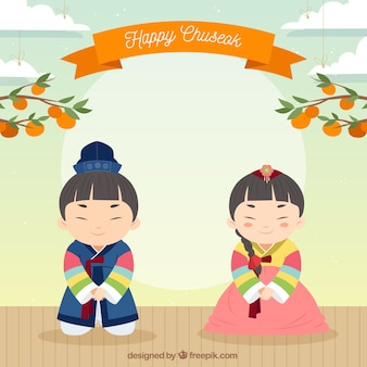 Background for chuseok festival