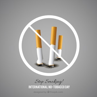 Background of cigarettes off