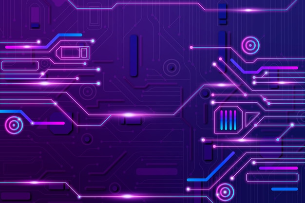 Background circuit board neon