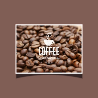 Background of coffee beans ideal for cafe bar