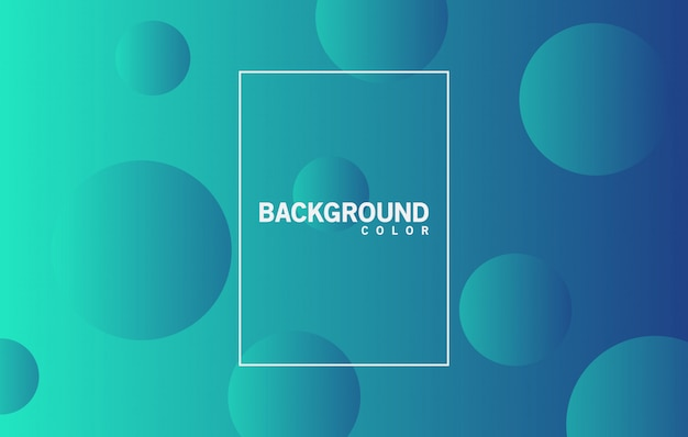 Background color bubble abstract vector