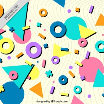 Background of colored geometric figures