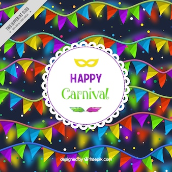 Background of colorful carnival garlands
