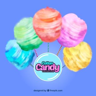 Sfondo di caramelle colorate di cotone