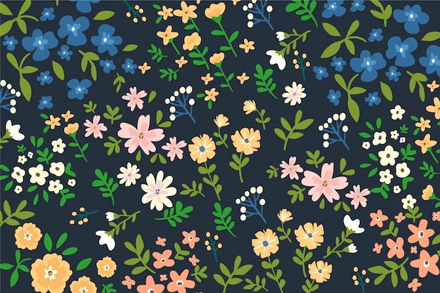 Background colorful floral ditsy