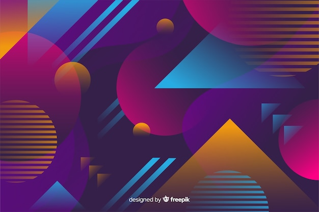 Background colorful gradient geometric models