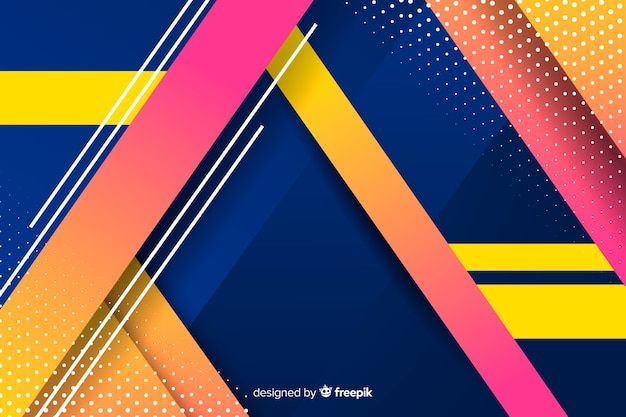 Background colorful gradient geometric shapes