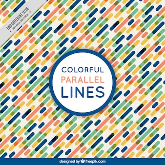 Background of colorful parallel lines